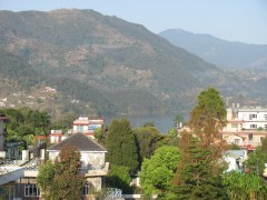 Overlooking the city of Pokhara.