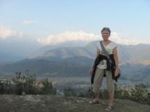 On the way up to Mt. Sarangkot.