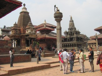 The temples in Patan - Hindu and Buddhist.