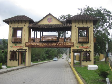 Entrance to the Village of Vilcabamba.