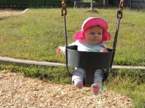 first trip to the playground