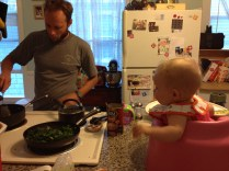 watching dad cook