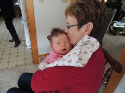 Kisses from Bunna when Charlotte was just a few weeks old!