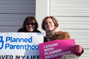 Betsy Hodges stands with Planned Parenthood