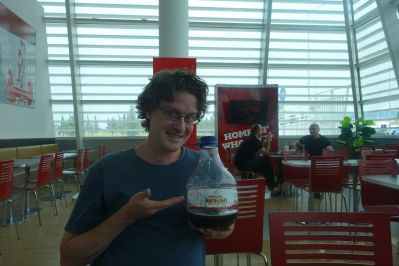 How John and I spent our last few hours in Georgia together - drinking at the airport Burger King.