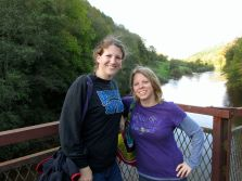 Headed to a pub after a walk in the Wye Valley in Britain.