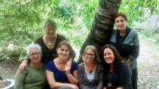 My PST host mom, host grandmother, neighbor, and two of my fellow PCVs.