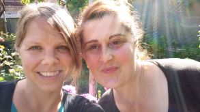 My PST host mom Eka and I.