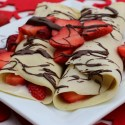 Gluten Free Crepes with Strawberry Yogurt Filling