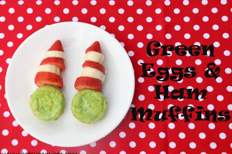 Dr. Seuss' Green Eggs and Ham Muffins