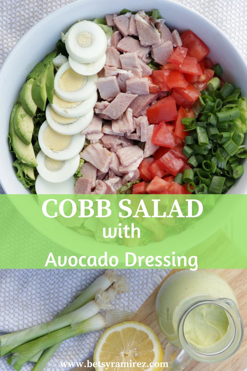 Cobb Salad with Avocado Dressing