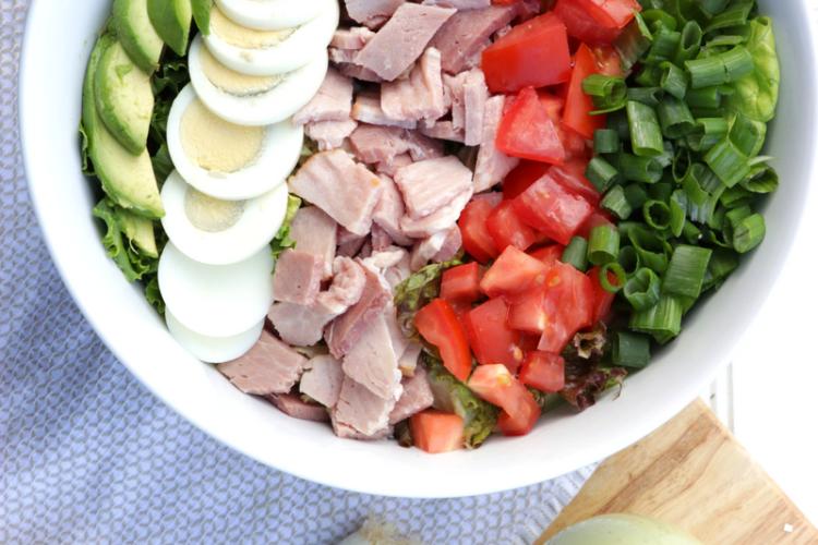 Cobb Salad with Avocado Dressing (Dairy Free)