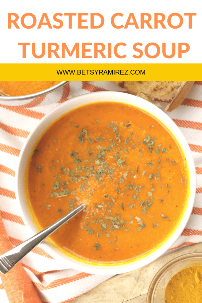 Roasted Carrot Turmeric Soup