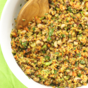 Remake of Hoppin' John recipe to make it more nutritious with quinoa and kale