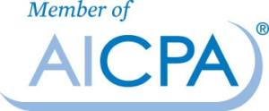 member of AICPA blue and white
