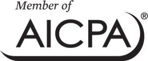 member of AICPA black and white