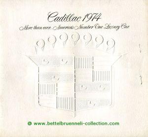 Cadillac Modellprogramm 1974 Prospekt 001-001h