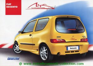 Fiat Seicento Michael Schumacher World Champion Edition 2001-02 Prospekt 001-001h