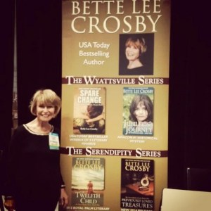 Bette with her banner at BEA