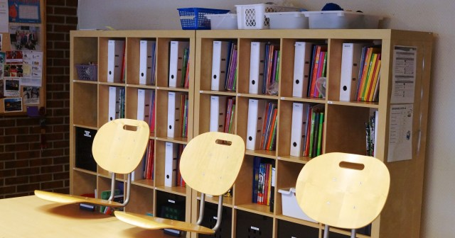 5S workplace organization in the classroom (Photo: Baerland Skole)