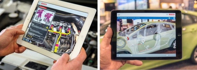 Fig. 4. Examples of Bosch Common Augmented Reality Platform (Photos: Bosch)