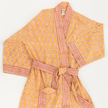 Mother's Day Gifts: Short Kimono Robe in India by Anokhi, $120, La Belle Fifi