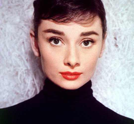 Audrey Hepburn in a Black Turtleneck