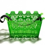 green bike basket