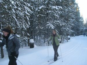 ski trip yurt living