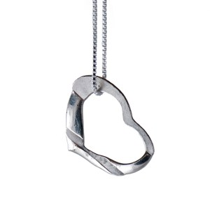 The Not Tiffany's Heart Necklace from Lisa Monahan sets you apart from the crowd this Valentine's Day