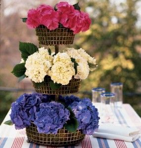 july 4th flower centerpiece