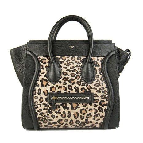 celine-bag-luggage-mini-tote-black-leopard-leather