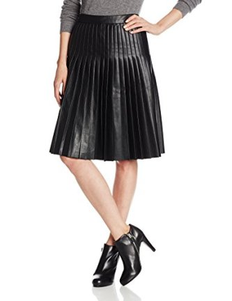 Rebecca Taylor pleated faux leather skirt available at Amazon.com