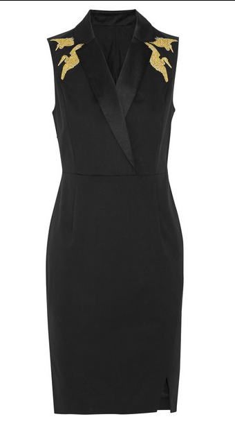 ALTUZARRA FOR TARGET Embroidered cotton-blend twill dress $49.99 at netaporter.com