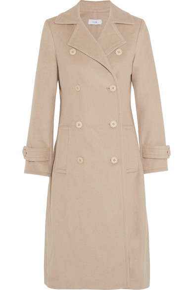 TITLE A Wool-blend felt coat Was $655 Now $458.50 30% OFF at netaporter.com
