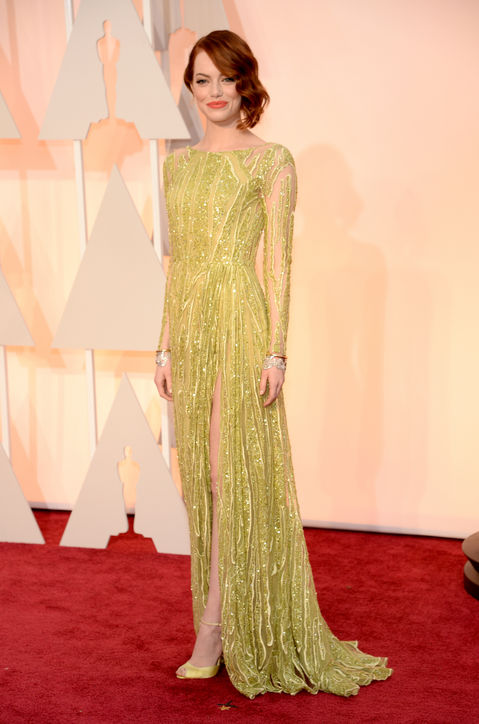 Emma Stone at the Oscars 2015