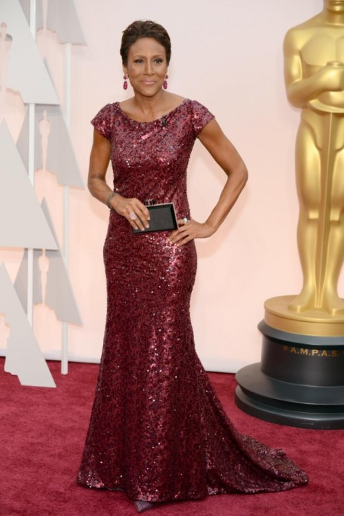 Robin Roberts 2015 oscars red carpet