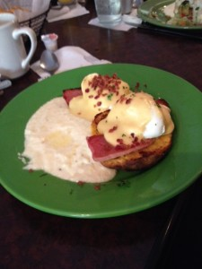 "Eggs Benedict and those ""life-changing"" grits from Sweet Potatoes Restaurant"
