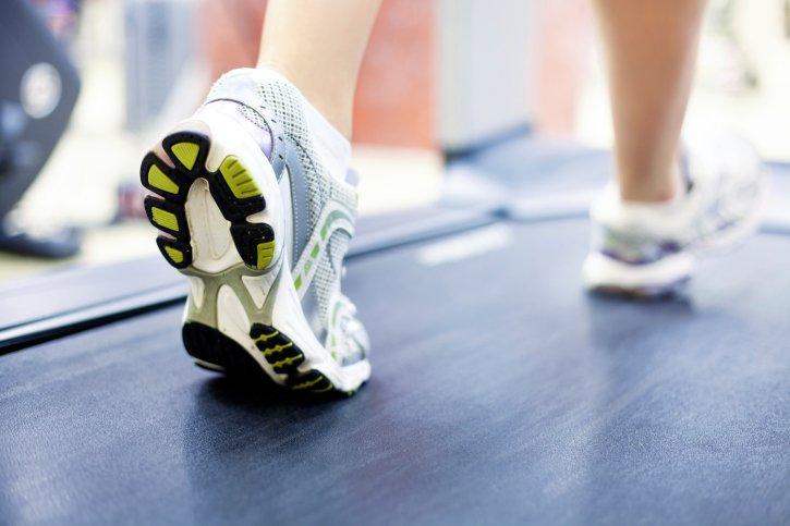 running in gym