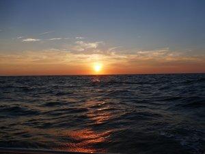 sunset on crossing