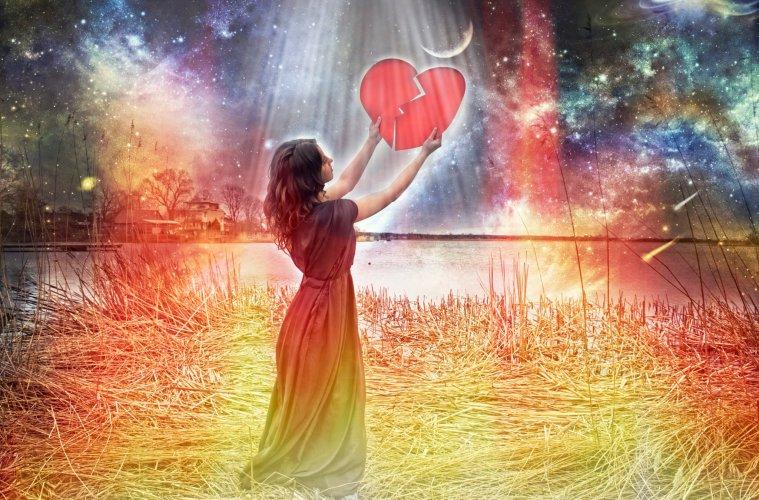 woman with broken heart