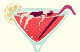Women Alcohol Dependence Problem Illustration