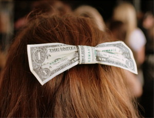 hairbow of money