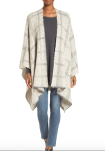 Eileen Fisher Plaid Almond Sarape