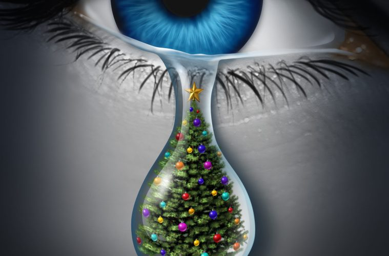 christmas tree in tear