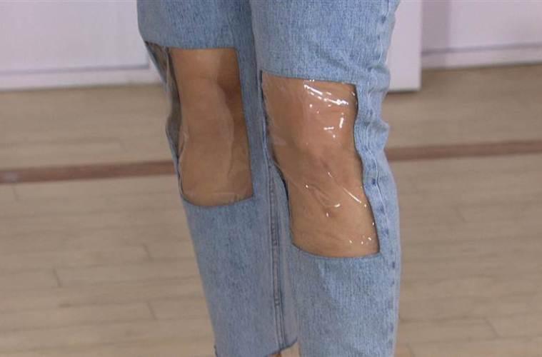 knee window jeans