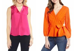 Pink and Orange Tops