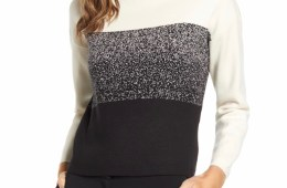 Anne Klein Ombré Funnel Neck Sweater $99.00