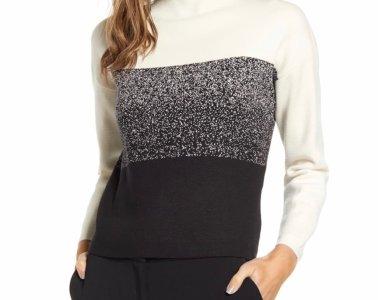 Anne Klein Ombré Funnel Neck Sweater $99.00