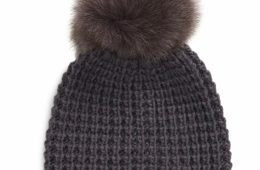 Kyi Kyi Genuine Fox Pompom Hat $88.00
